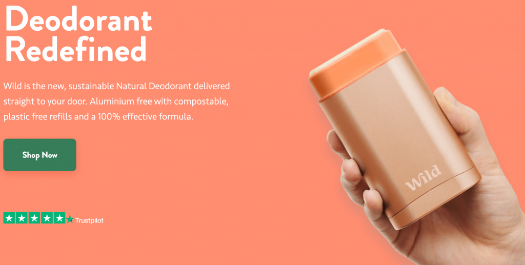 Wild sustainable deodorant